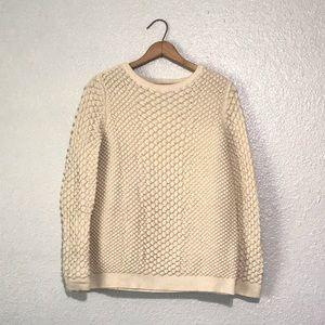 & Other Stories Cream Textured Sweater